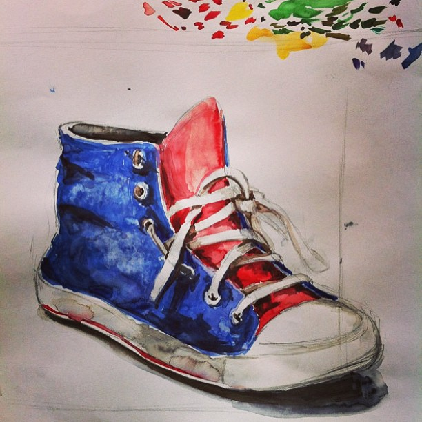 fb6f09489e8c2 Converse Watercolor by intellica on DeviantArt