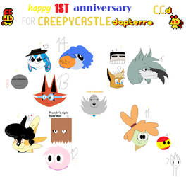 happy 1st anniversary for C.C.D by ahmez77890