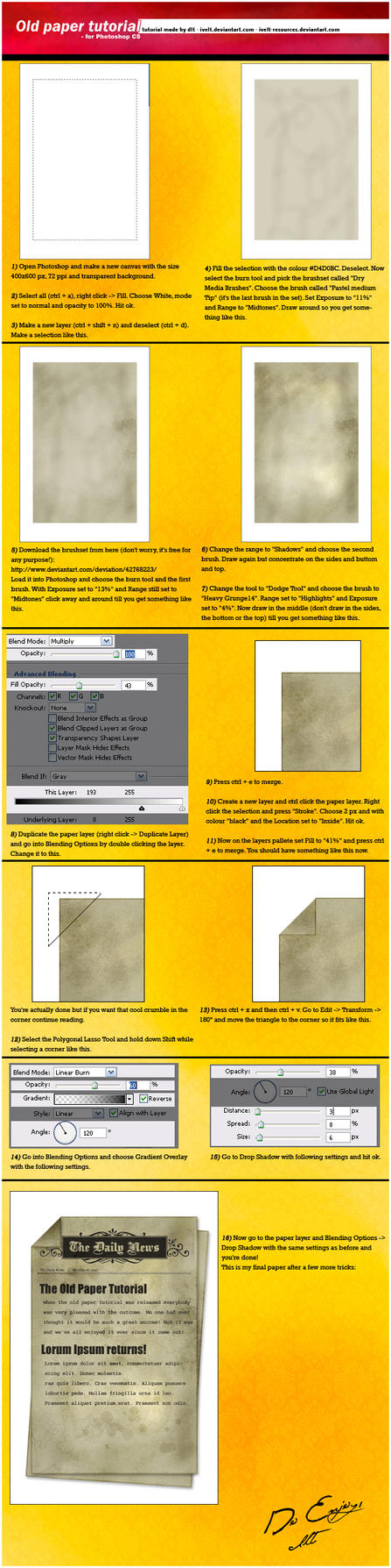 Tutorial: Old Paper by ivelt-resources