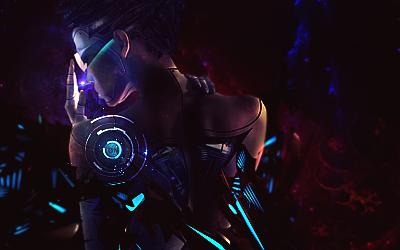 Cyborg kind-of-like girl tag by JosephBui