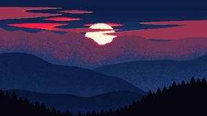 Pixel Sunset Colour by Schwarzer--Ritter