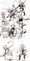 Chatland Fighters sketchdump