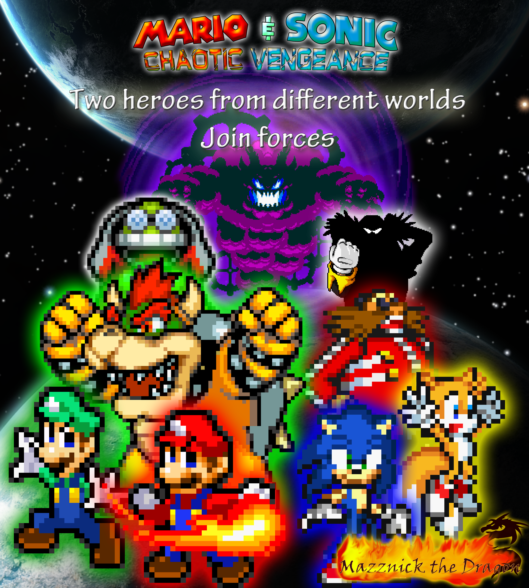 mario and sonic cv promotional poster by mazznick on