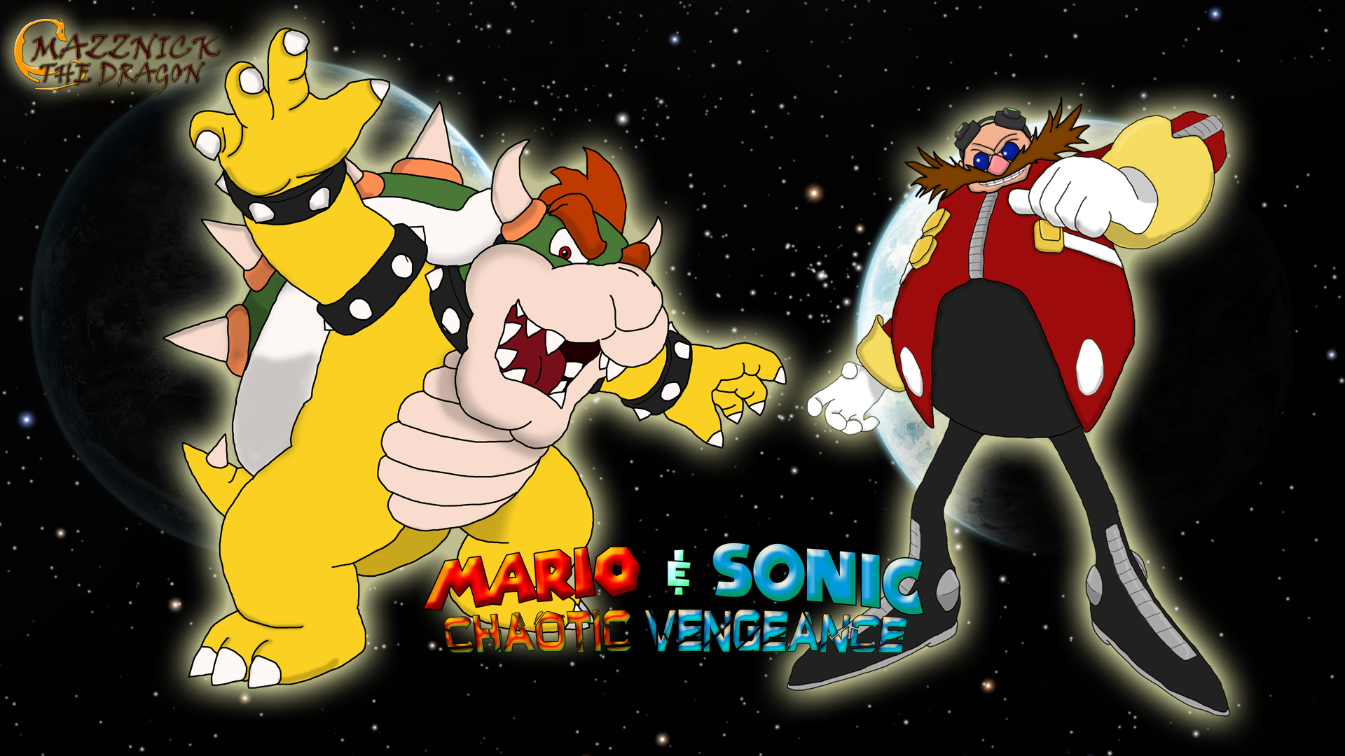mario sonic cv wallpaper bowser and eggman by mazznick on