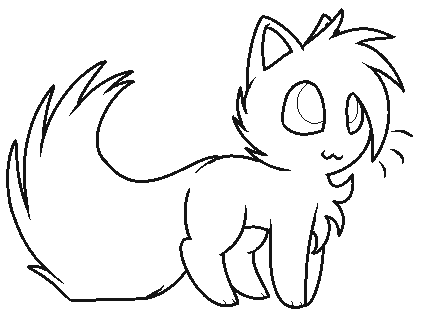 Warrior Cat Coloring Pages #5