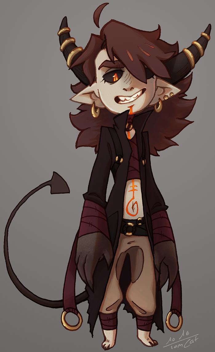 Inktober demon by Luunan