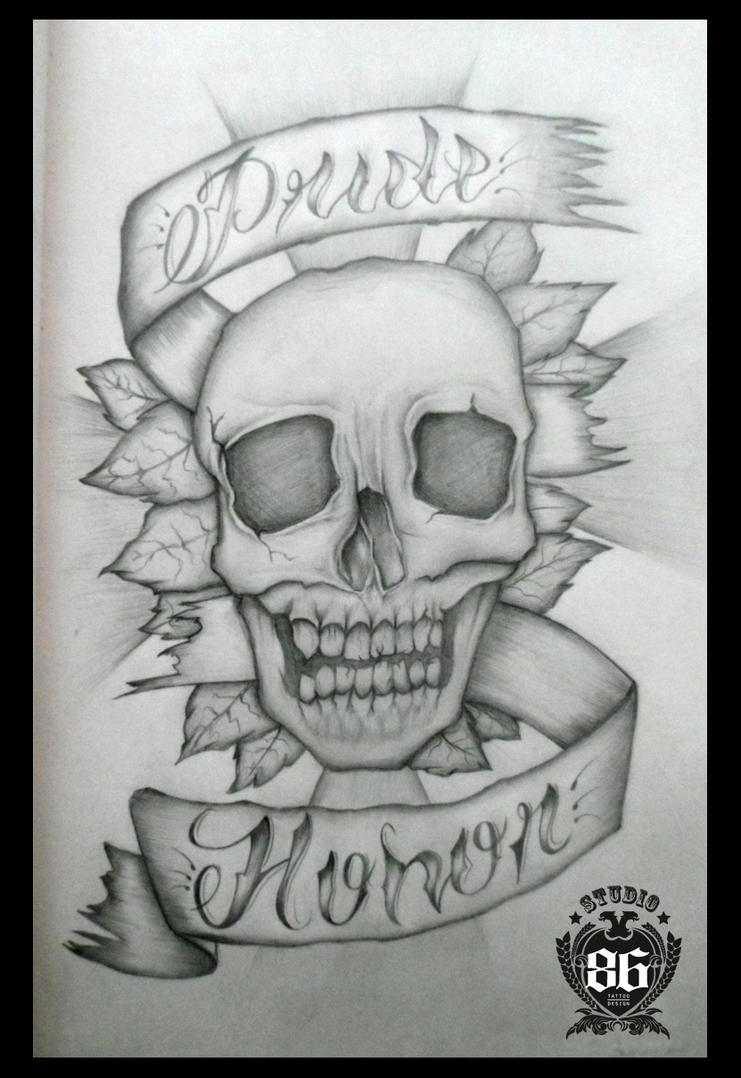 Pride and Honor Skull by brik86