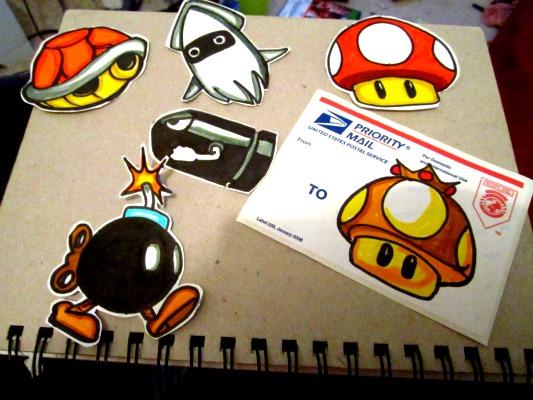 custom-made Mario Kart stickers by CloudCityArt on DeviantArt