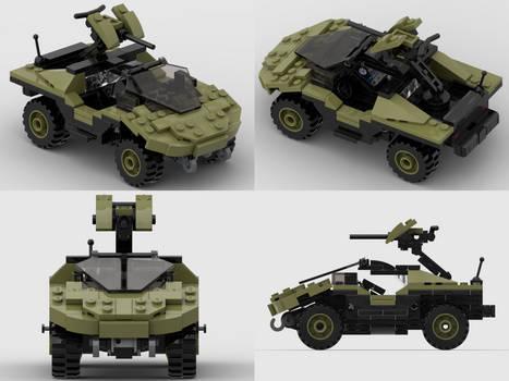 Lego Halo Warthog Studio Renders