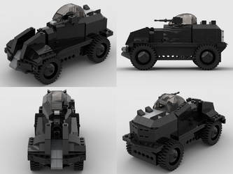 Lego Half-Life 2 Combine APC v4 Studio Renders