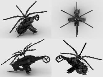 Lego HL2 Combine Hunter-Chopper Studio Renders