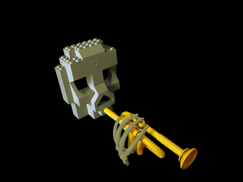 LEGO Skull Trumpet by Sparkytron