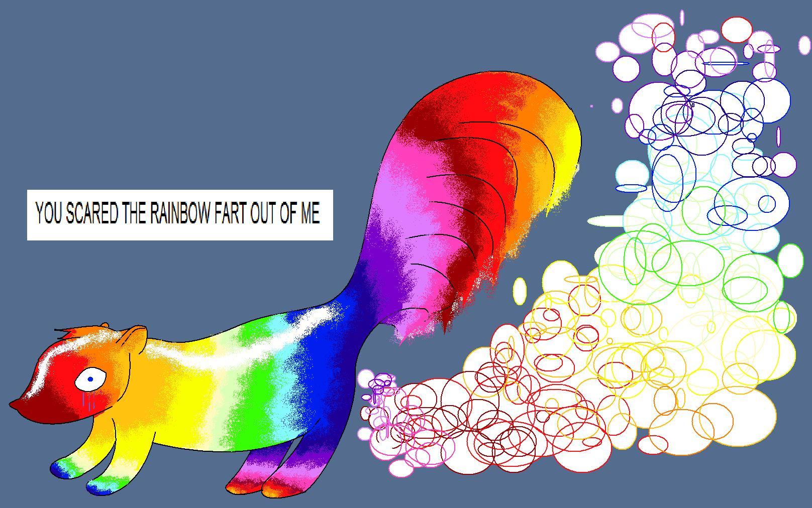 rainbow skunk by thegod2b on deviantart