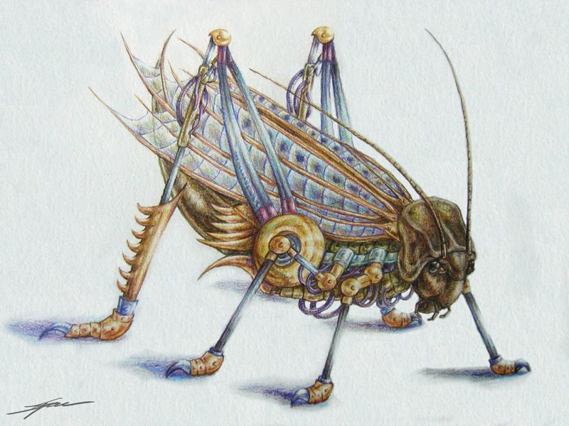 Metal Grasshopper by Eenuh