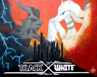 10th Anniversary of Black and White Project by DarkTacan