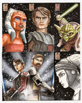 Clone Wars Sketch Card