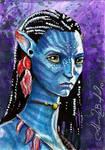 Avatar Neytiri Sketch Card