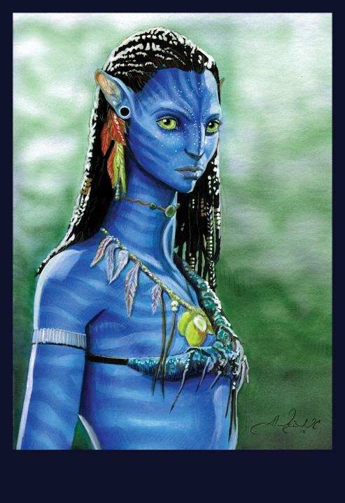 Avatar Neytiri Final by AlexBuechel