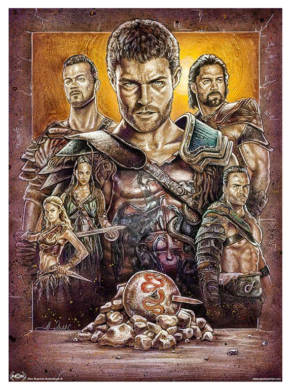 Spartacus Poster by AlexBuechel