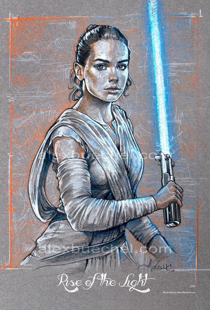 Rey - Star Wars Force Awakens - By Alex Buechel by AlexBuechel
