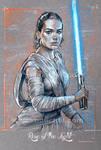 Rey - Star Wars Force Awakens - By Alex Buechel