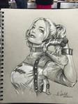 San Diego Comic Con Sketch Harley Quinn
