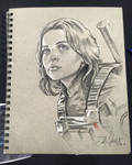 Jyn Erso Sketch from Star Wars Celebration Europe