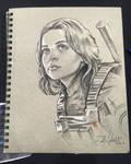 Jyn Erso Sketch from Star Wars Celebration Europe