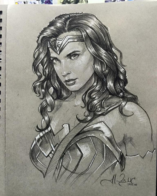 Wonder woman drawing easy animals