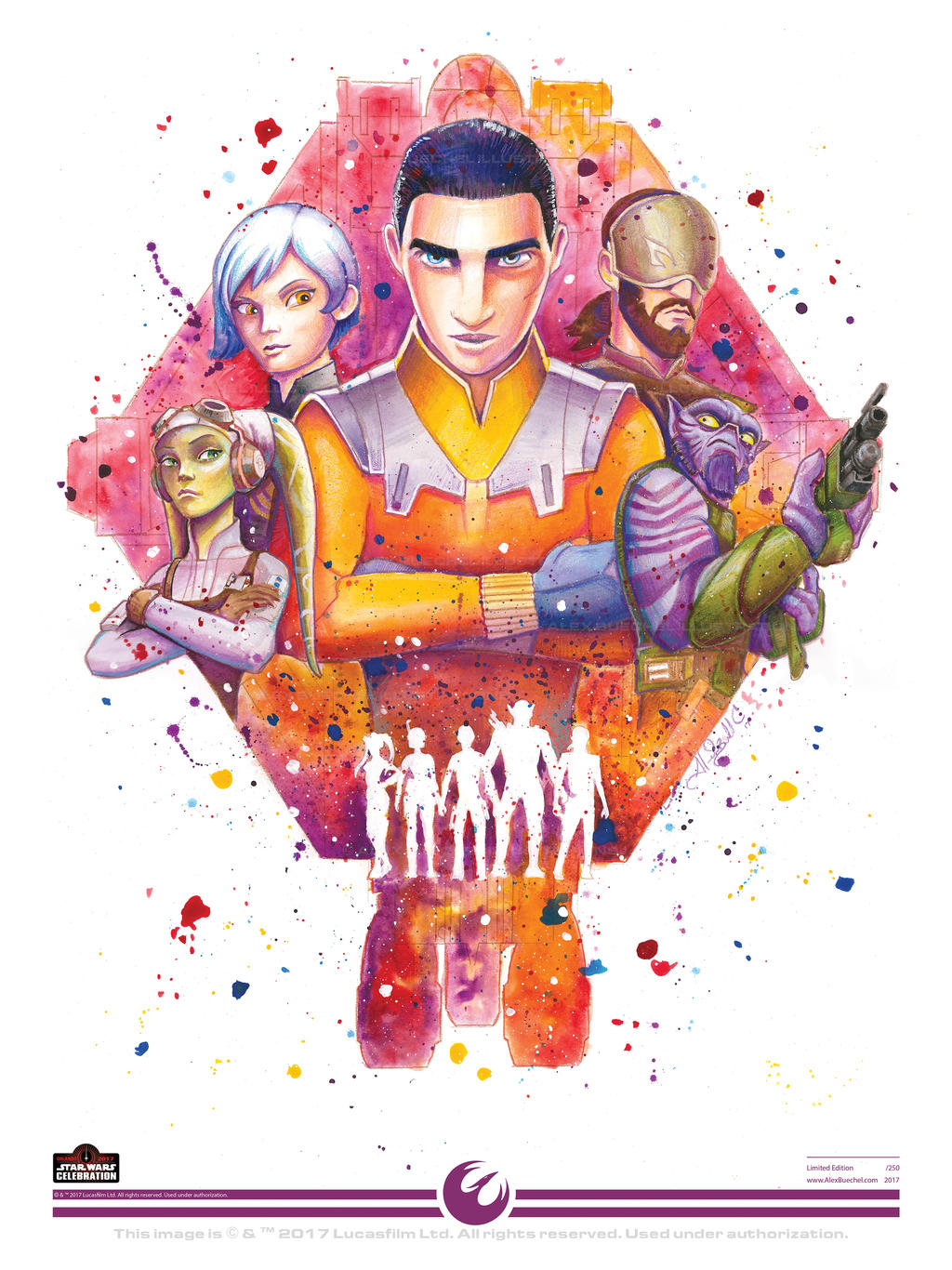 Ghost - Star Wars Celebration 2017 Art Print
