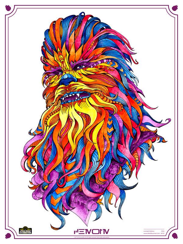 Chewie Star Wars Celebration Chicago Art