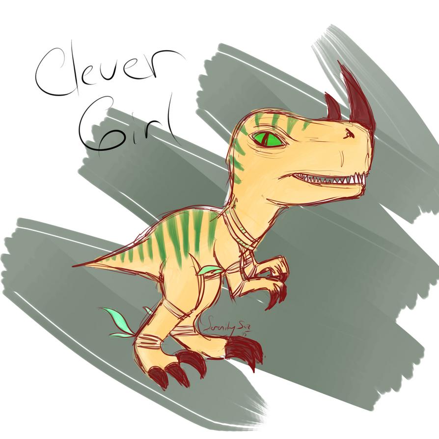Raptor Hatchling by SerenitySaz