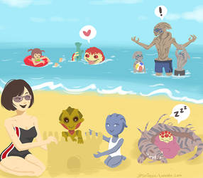 Epilogue: Shepard-Vakarian Family Vacation by JPShieux
