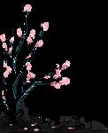 [F2U] Black death tree 1 - pixel decor