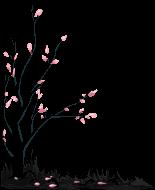 [F2U] Black death tree 1 - pixel decor by M-ukki