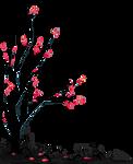 [F2U] Black death tree 4 - pixel decor