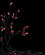 [F2U] Black death tree 4 - pixel decor by M-ukki
