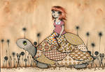 vintage turtle by girlfriday82