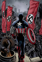 Captain America vs.the Nazis by Maxahiss
