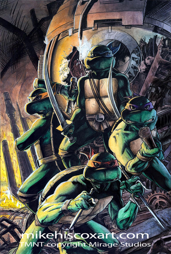 80's Ninja Turtles by Maxahiss