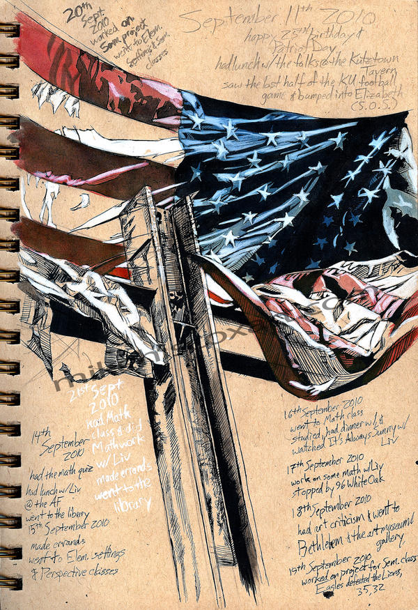 9-11-10 Visual Journal by Maxahiss