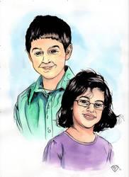 Cousin Portraits by Maxahiss