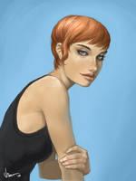 Short Hair Girl by VietNguyen