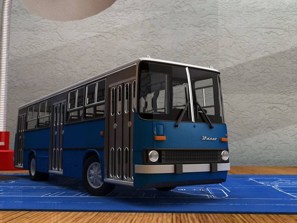 Ikarus 260 city bus by Lorddarthvik