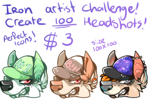 IRON ARTIST CHALLENGE! (OPEN COMMISSIONS) by Keesness