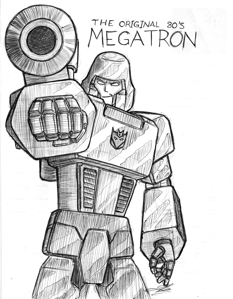 g1 megatron sketch by the great geraldo on deviantart