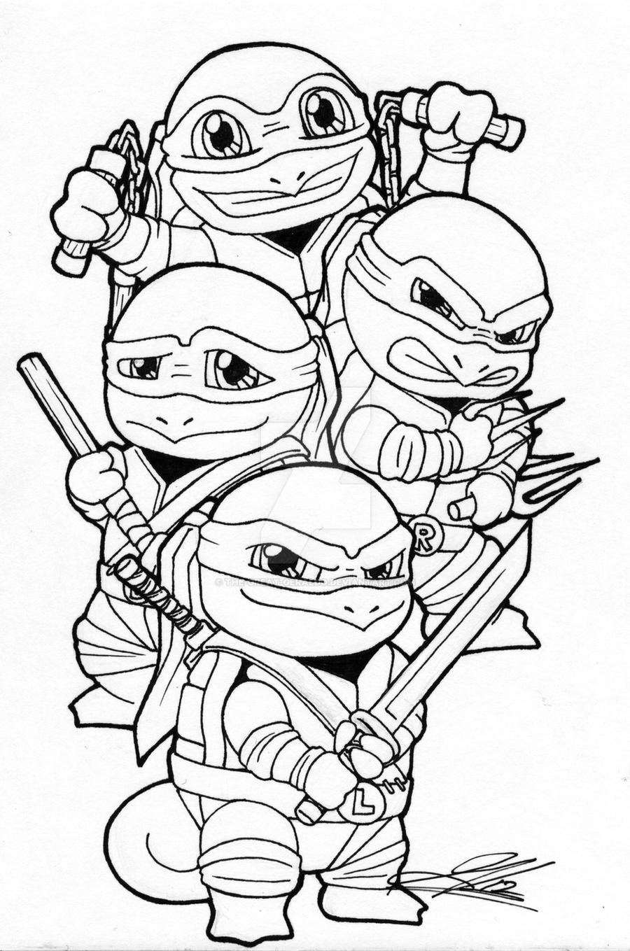 ninja squirtle gang by the great geraldo on deviantart