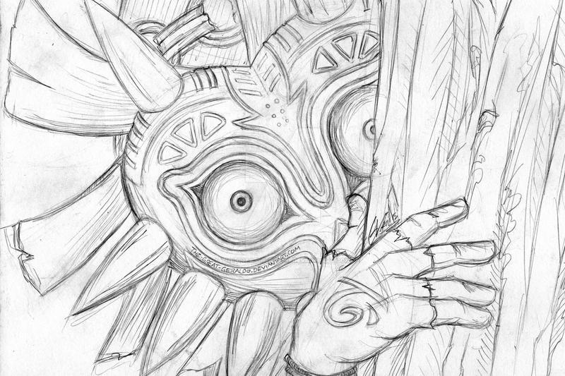 The Skull Kid Sketch by TheGreatGeraldo on DeviantArt