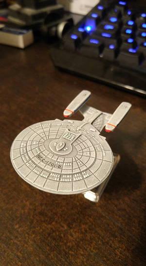 Star Trek Attack Wing Enterprise-D painted.