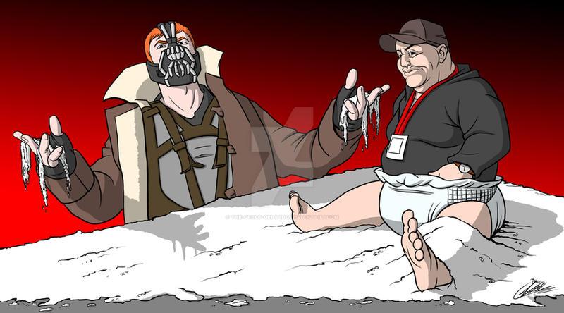 Commission: Gingler Bane VS Big Salt Baby by The-Great-Geraldo